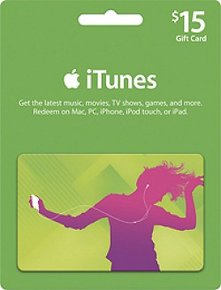 $15 itunes gift card  The giveaway widget is