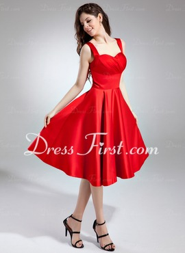 Red Princess Satin Dress