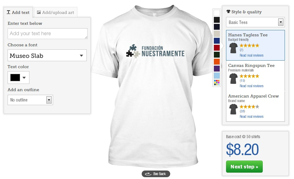 Teespring: Design Shirt Feature