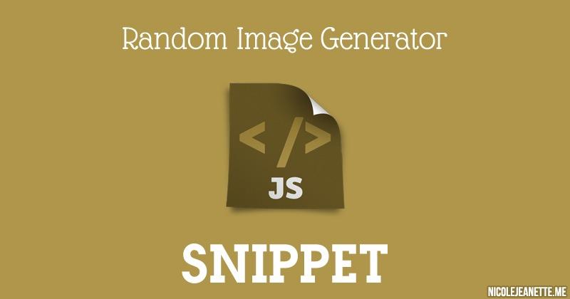 Javascript: Random Image Generator