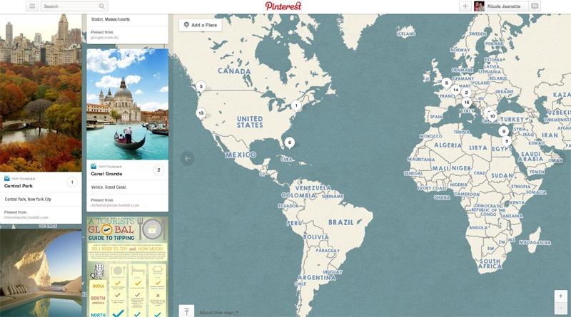 Pinterest Travel Interactive Board