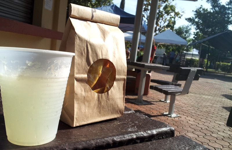 Organic Market: Lemon Juice & Plantain Chips