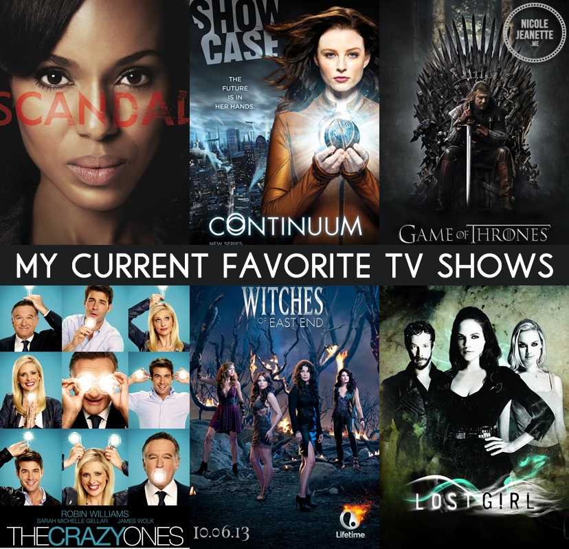 My Current Favorite TV Shows