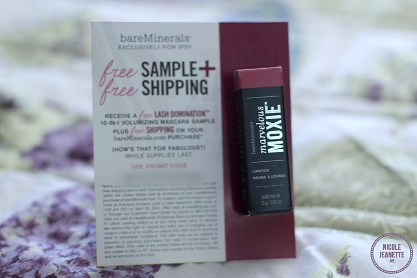 Ipsy March 2014 Glam Bag: Marvelous Moxie Lipstick