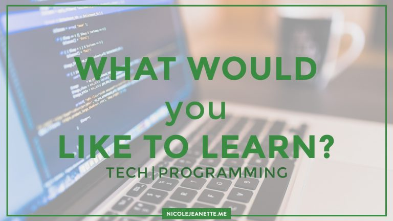 What would you like to learn?
