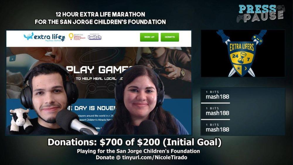 Extra Life 12 hour Marathon
