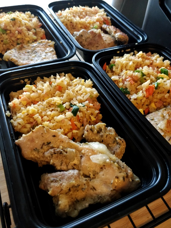 Keto Cauliflower Fried 'Rice' & Pork Chops
